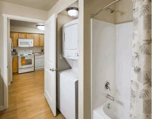 Bathroom with Washer/Dryer