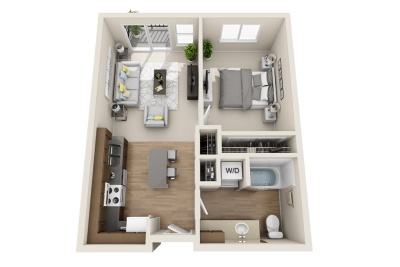 Affinity at Wells Branch - One Bedroom / One Bath