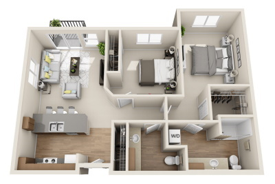 Affinity at Wells Branch Two Bedroom / One Bath
