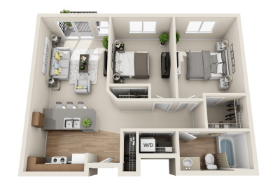 Affinity at Wells Branch Austin, Texas Two Bedroom / One Bath