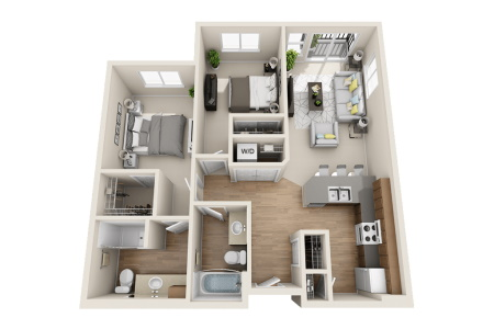 Affinity at Wells Branch Austin Two Bedroom / Two Bath