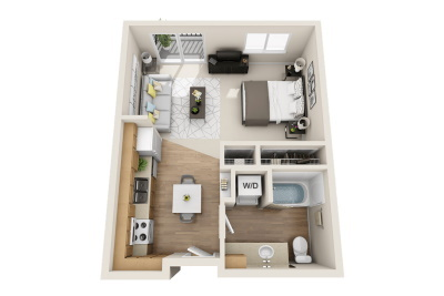 Affinity at Wells Branch - Studio Apartment