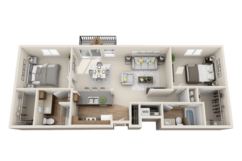 Affinity at Wells Branch Austin, Texas Two Bedroom / Two Bath