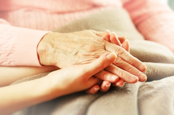 Hospice caring hands