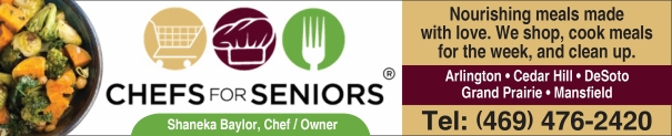 Chefs for Seniors Meals Arlington, Grand Prairie, Cedar Hill, Mansfield, DeSoto