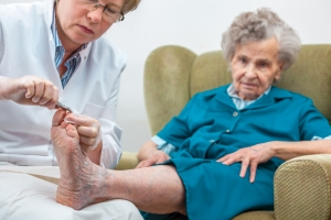 Foot care for elderly with diabetes
