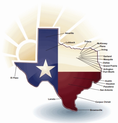 1st Nations Reverse Mortgage Texas Serving Areas Map