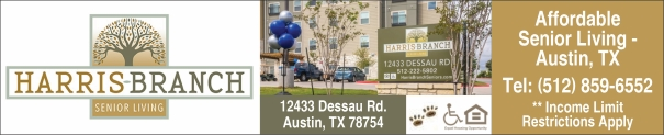 Harris Branch 55+ Affordable Senior Living Apartments Austin TX