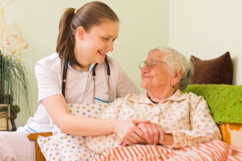 Caregiver with Elderly Woman