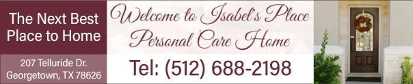 Isabel's Place Georgetown TX Residential Personal Care Home for Elderly Seniors