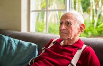 Man with Alzheimer's in a memory care facility
