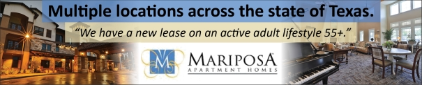 Mariposa Apartment Homes - Affordable Texas Senior Living Active Adults 55 Plus.