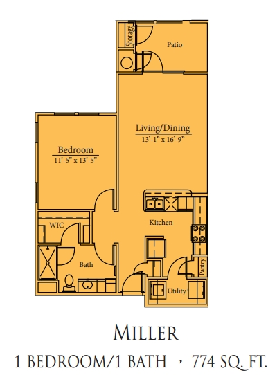 Mariposa Spring Hollow Miller 1/1/ Floor Plan