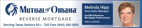 Mutual of Omaha Texas Reverse Mortgage Lender - Melinda Hipp Areas Sales Manager