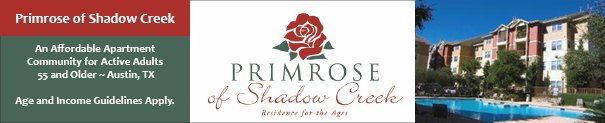 Primrose of Shadow Creek, Affordable Senior Living in Austin TX 55 Plus.
