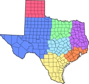 Texas Regional Map for Senior Services and Housing Options