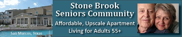 Stone Brook Seniors Living 55 Plus - Conveniently located to San Antonio.