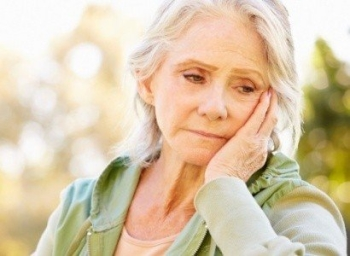 Stress woman worried about aging parents