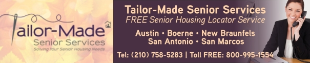 Tailor Made Senior Services -  Senior Housing Locator San Antonio Austin Areas