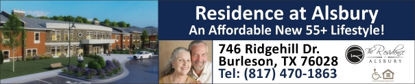 Residence at Alsbury, affordable 55+ senior apartments in Burleson, Texas